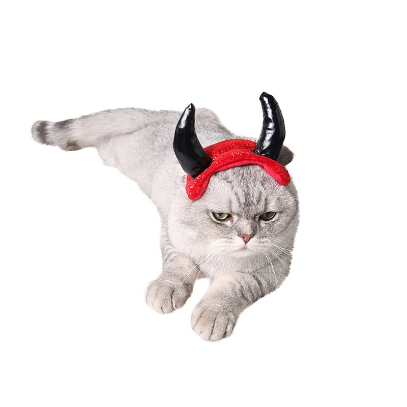 Hoomall 1pc Christmas Halloween Pet Cat Dog Caps Horns Cap For Dog Cat Pet Hat Accessories Decoration Cosplay Costume Hats