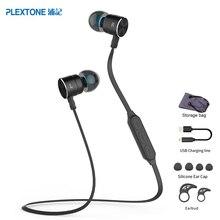 Plextone BX325 Магнитная Беспроводной наушники Спорт бег bluetooth гарнитуры с микрофоном стерео наушники для iPhone Xiaomi Android
