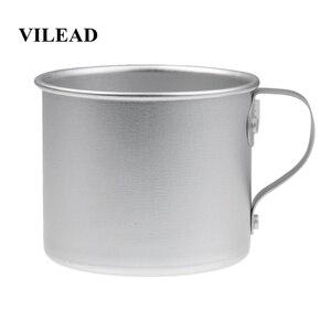 Image 1 - VILEAD 300 мл Ультралегкая алюминиевая чашка для воды с ручкой, портативная уличная бутылка для воды, кружка для кемпинга, пешего туризма, пикника, альпинизма