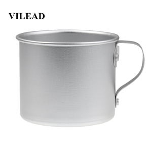 Image 1 - VILEAD 300ML Ultralight Aluminum Water Cup With Handle Portable Outdoor Water Bottle Mug for Camping Hiking Picnic Backpacking