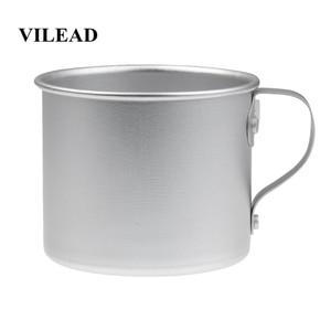 Image 1 - VILEAD 300ML 초경량 알루미늄 워터 컵 핸들 캠핑 하이킹 피크닉 배낭을위한 휴대용 야외 물병 머그잔