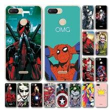 YOUVEI Novelty Superhero Phone Case For Xiaomi Redmi 6 Cover Redmi 6A Marvel Avengers Silicone Case Bumper For Xiomi Redmi 6 Pro