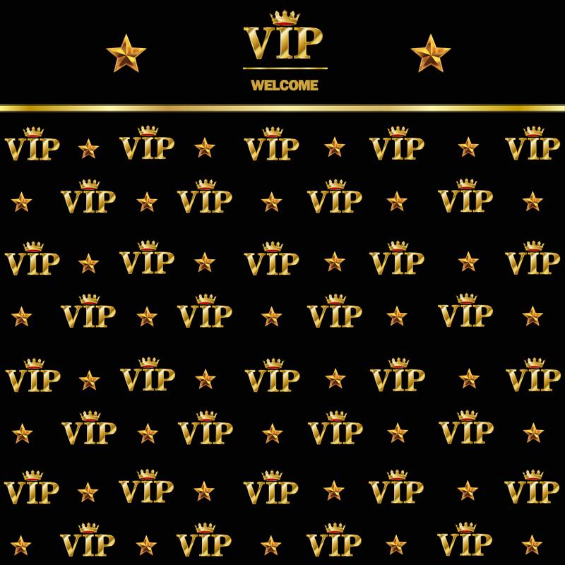 Prix pour 10x10FT Bienvenue Invité VIP Clients Or Couronne Étoiles Partie de Réception Personnalisé Photo Décors Fond de Studio Vinyle 300 cm x 300 cm