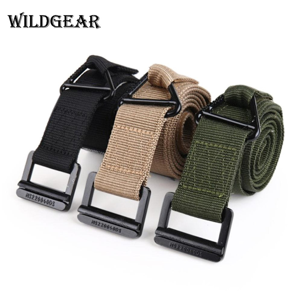 Mens Canvas Belt Military Tactical Waist Belt Nylon Buckle Webbing Waistband