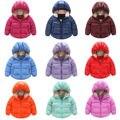 ГОРЯЧИЕ Продажи Ребенка Зимой Дети Мальчики Девочки Теплая Вниз Snowsuit Капюшоном Теплую Куртку Пальто И Пиджаки 9 Цвета