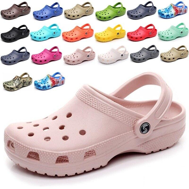 Classic Slip On Garden Clog Shoes Women Quick Drying Summer Beach Slipper  Hollow Flip Flop Outdoor 959e9d896b13