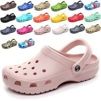 Classic Slip On Garden Clog Shoes Women Quick Drying Summer Beach Slipper Hollow Flip Flop Outdoor Sandals Men Cross Strap shoes