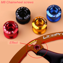 5Pcs Bike Crankset Screw SingleRreel Staple Color Aluminum Folding Mountain Dead Fly Single-Speed Bicycle Disc Nail