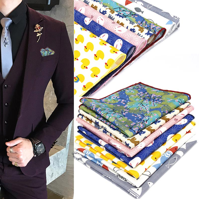 Men Pocket Square Handkerchief Hanky Printing Fashion For Wedding Party Business Groom Suit LXH