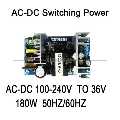 <font><b>AC</b></font>-<font><b>DC</b></font> Inverter 110V-220V To <font><b>36V</b></font> <font><b>5A</b></font> <font><b>180W</b></font> Switching Power Adapter Converter Module image