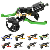 Universal For Kawasaki KX250 KX125 2000 2008 Motocross Off Road Clutch Brake Master Cylinder Reservoir Levers