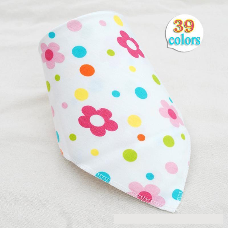 Baby bibs High quality triangl double layers cotton baberos Cartoon Character Animal Print baby bandana bibs Burp Cloth Scarf