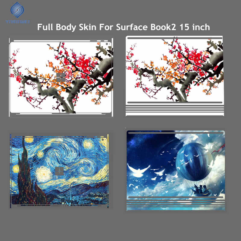 Full Body Skin For Microsoft Surface Book 2 15 inch Tablets Laptop Diy Design Colorfull Photo Skin Protector ...