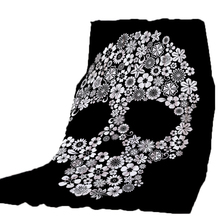 Thicking Blanket for Bed Super Soft Flowers Skull Happy Halloween BeachTowel For Kids Throws bedsheet Travel