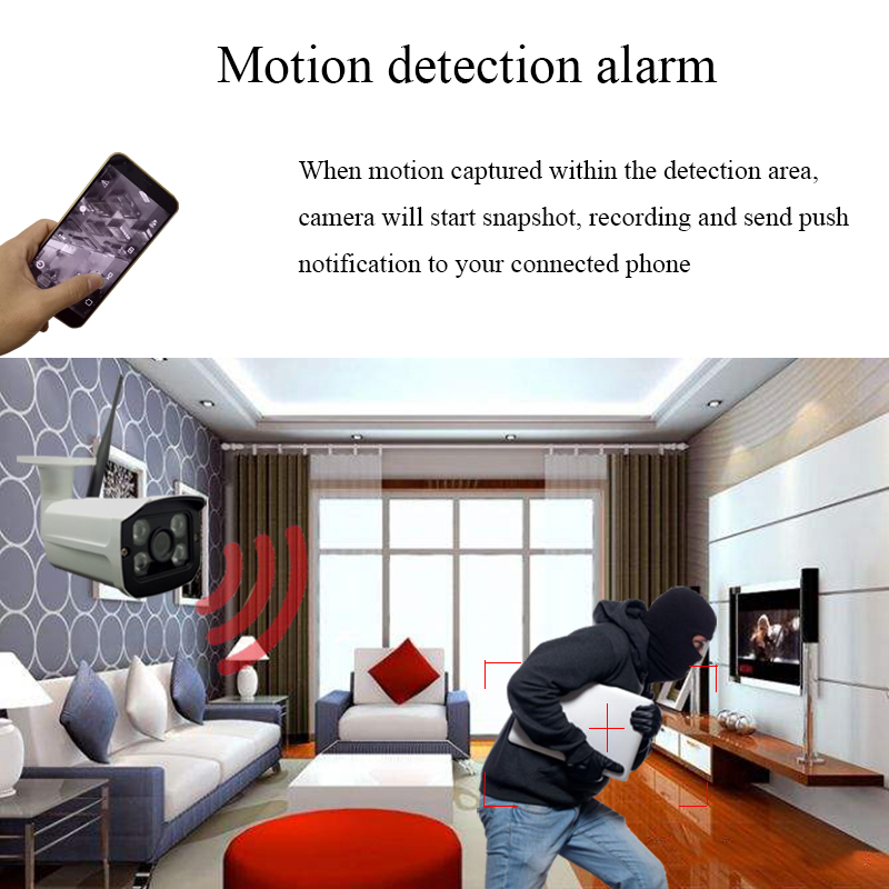 Image 4 - HD 1080P WiFi IP Camera Wireless Onvif 720P CCTV Camera Home Security Surveillance Micro SD Card Slot Outdoor Waterproof Camera-in Surveillance Cameras from Security & Protection