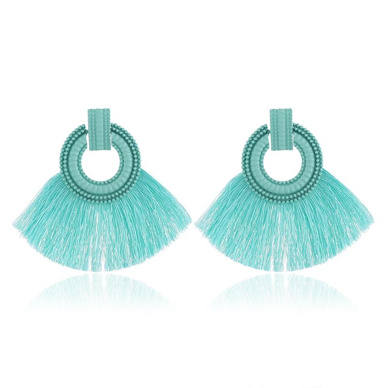WNGMNGL 2018 New Fashion Female Tassel Earrings Bohemia Charm Statement Earring for Women Vintage Round Drop Earrings Jewelry in Drop Earrings from Jewelry Accessories