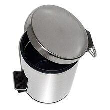 Ведро для мусора с педалью WasserKRAFT K-637 (Хромоникелевое покрытие, нержавеющая сталь, ABS - пластик)