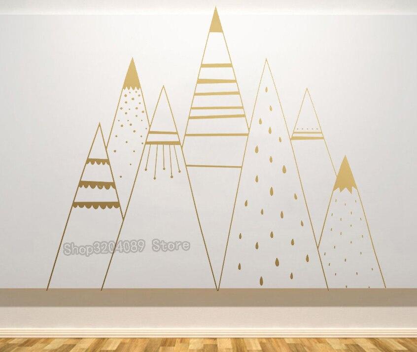 Aliexpress Buy Mountain Range Wall Stickers Kids Room Nordic