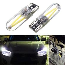 2pcs 3W 12v-24v T10 194 168 W5W Led Car Glass License Plate Lights Bulbs White High Quality car Light