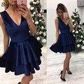 summer Blue velvet dress 2017 Cute dress women elegant sexy dress for women Velvet dress v neck hot sale free shipping