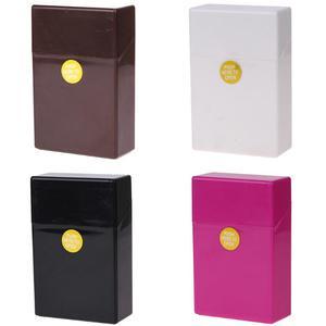 1Pcs Plastic Smoking Cigarette Case Box Holder Container Pocket Box Cigarette Holder Storage Smoking Accessories 10*6*3cm(China)