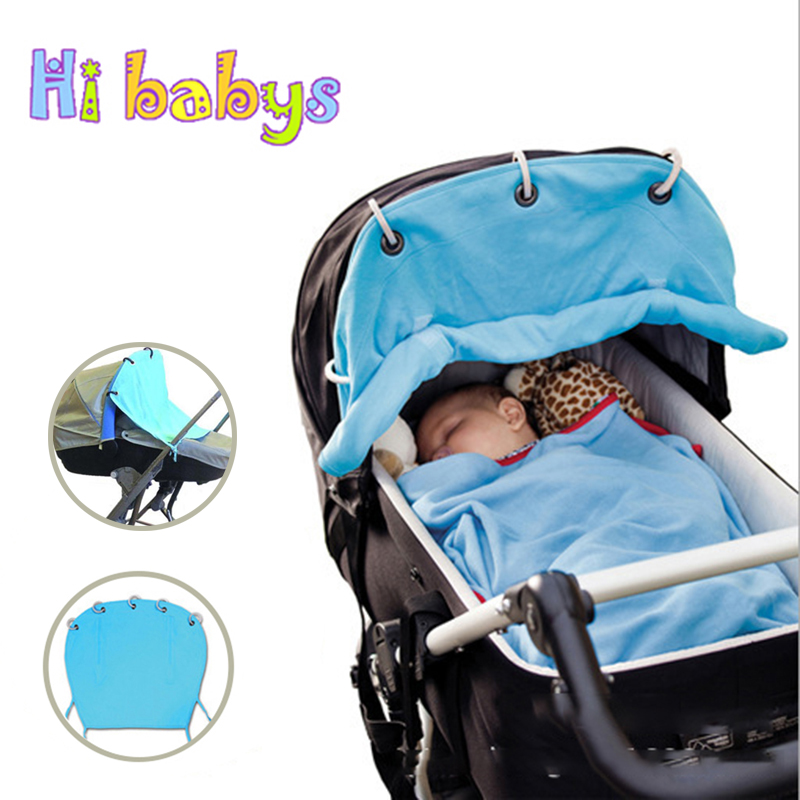 Baby Stroller Sunshield Ventilated Sun Protection Cover Infant Stroller Windshield Cover Layout Pram Buggy Pushchair Accessories