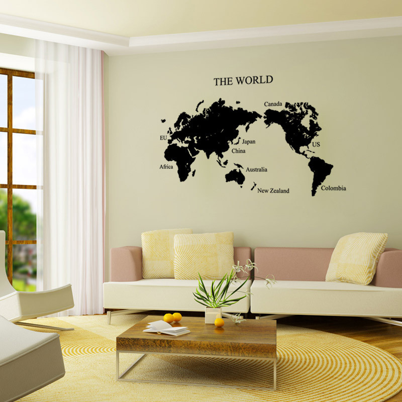 Large size diy world map wall stickers vintage retro home decoration large size diy world map wall stickers vintage retro home decoration vinyl wall posters mirror wall arts stickers decals hh1293 in wall stickers from home gumiabroncs Gallery