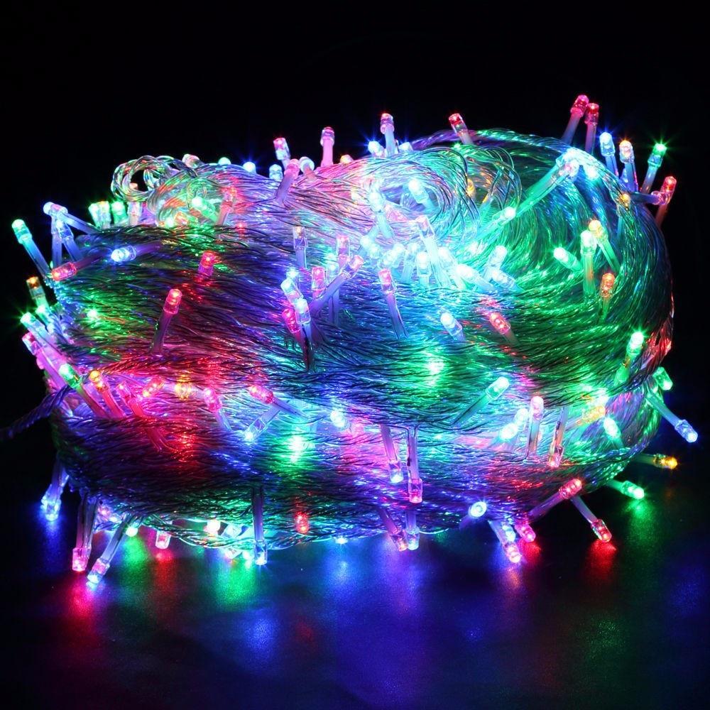 New 50m 400 Led String Fairy Light Ac220v Outdoor Colorful Led Xmas Christmas Light For Wedding