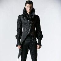 Punk Magnificent Gothic Vest for Men Steampunk Court Black Sleeveless Waistcoats Stretch Slim fitting Cowboy Gentleman Vest Tops