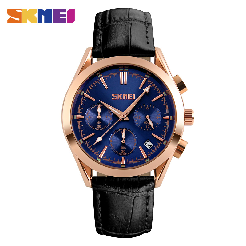 SKMEI Mens Fashion Casual Watches Waterproof Leather Quartz Watch Man Clock Stopwatch Date Top Luxury Brand Wristwatches 9127SKMEI Mens Fashion Casual Watches Waterproof Leather Quartz Watch Man Clock Stopwatch Date Top Luxury Brand Wristwatches 9127