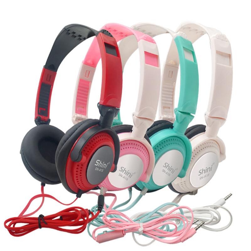 Headphones with Mic Earphones 3.5mm AUX Foldable Portable Gaming Headset For Phones MP4 Computer PC Music fone de ouvido image