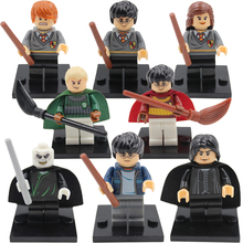 8pcs Compatible Legoes Harry Potter Models Figures Bricks Toys Lord Voldemort Malfoy Professor Snape Ron Building Blocks(China (Mainland))