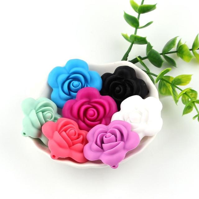 Купить 5 шт жевательные бусины в форме цветка для кормления