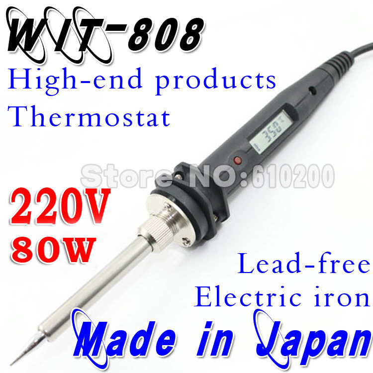 80W/220V WIT808 Temperature Thermostatic Adjustable Lead-free Electric Soldering Welding Tool Substitute Soldering station цена