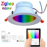 Zigbee bridge 9W RGBW LED Downlight Work with Amazon Echo Plus Directly Smart Lighting Solution