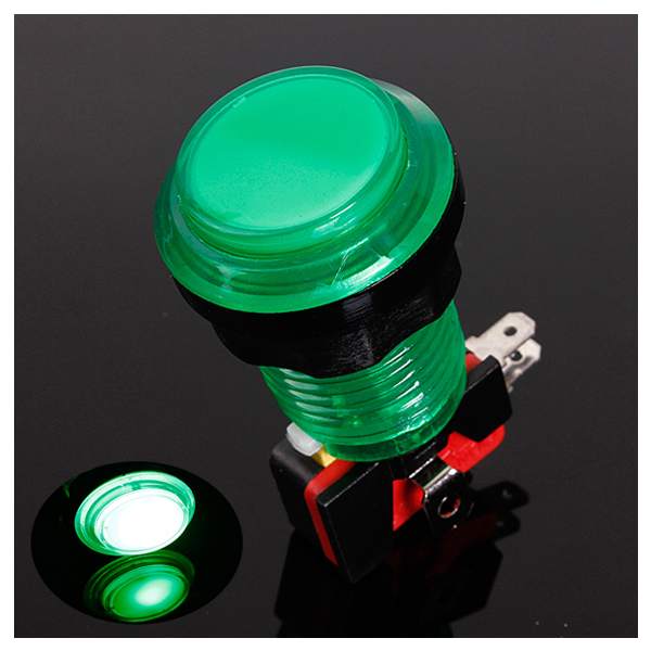 Round Lit Illuminated Arcade Video Game Push Button Switch LED Light 5V/12V