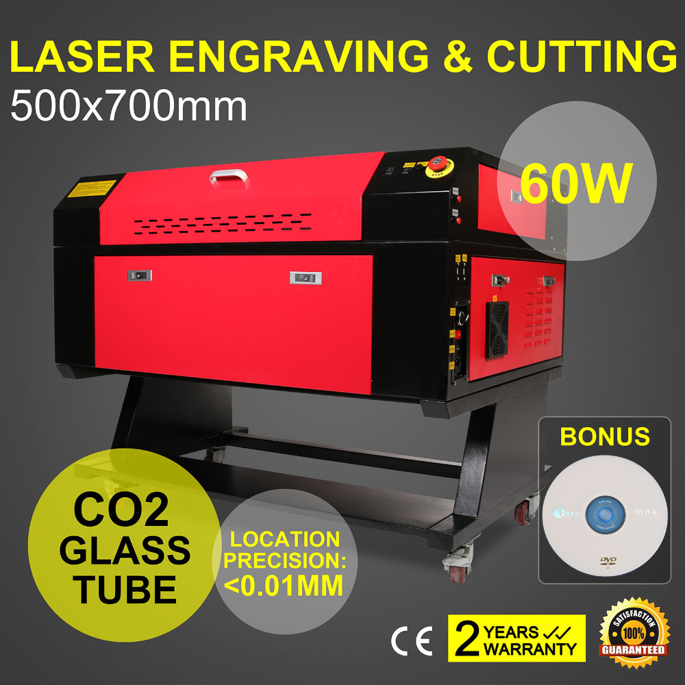 Laser Engraver/Engraving /Cutting Machine With Color Screen 700*500mm 60W CO2 Laser Tube With CE FDA