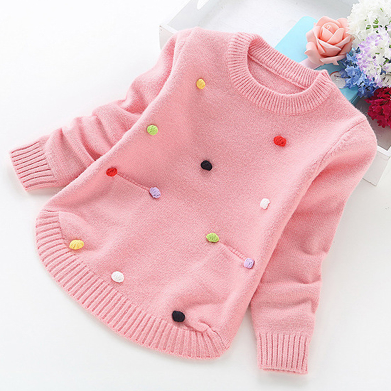 Image 3 - big girl sweaters winter girl sweaters 2 4 6 8 10 years toddler knitting pullovers top korean style cardigans warm kids-in Sweaters from Mother & Kids