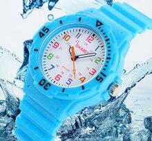 Los niños de la moda skmei relojes de marca relojes de pulsera de cuarzo resistente al agua los niños de la jalea reloj chicos chicas estudiantes relojes de pulsera