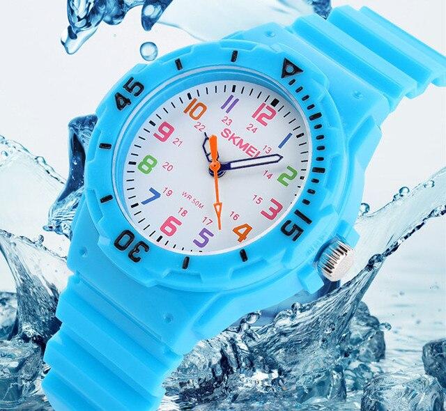 Children Watch Fashion Skmei Brand Watches Quartz Wristwatches Waterproof Jelly