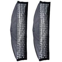 2PCS Godox 35x160cm 14″x63″ Honeycomb Grid Softbox Bowens Mount for Studio Strobe
