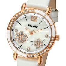 VILAM 2017 Ladies Wrist Watch Women Brand Famous Female Clock Quartz Watch Hodinky Quartz-watch Montre Femme Relogio Feminino