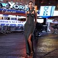 2016 Nuevo Invierno Vestido de Las Mujeres Blanco Negro Sin Mangas Del O-cuello Vestido Maxi Rebordear de Lujo de Señora Del Partido de Tarde de Bodycon Viste Al Por Mayor