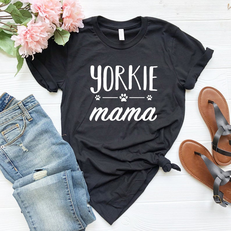 Yorkie Mama Women Tshirt Cotton Casual Funny T Shirt For Lady Girl Top Tee Hipster Drop Ship NA-203
