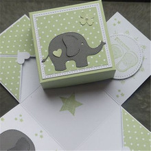 GJCrafts Elephant Animal Metal Cutting Dies New 2019 for Craft Scrapbooking DIY Album Embossing Paper Die Cut Decoration