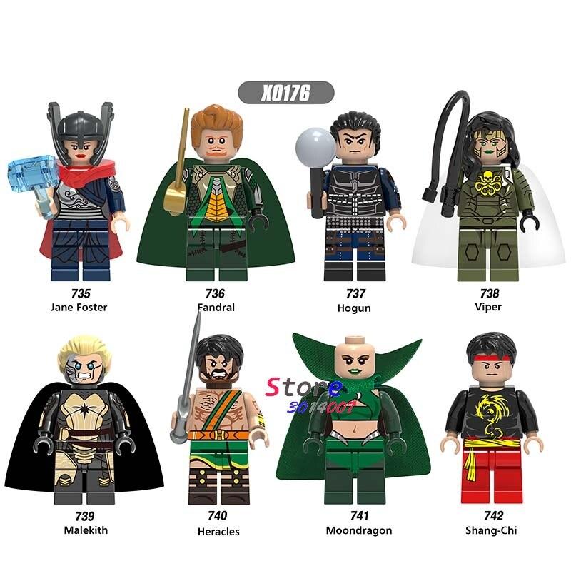 Single New Ninja movie  Jane Foster Fandral Hogun Viper Malekith Heracles Shang-Chi building blocks bricks toys for children psv heracles almelo