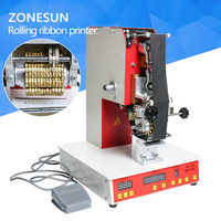 ZONESUN Rolling Ribbon Printer Electric Hot Thermal Printing Machine Number Turning Expiration Code Date Number Printer