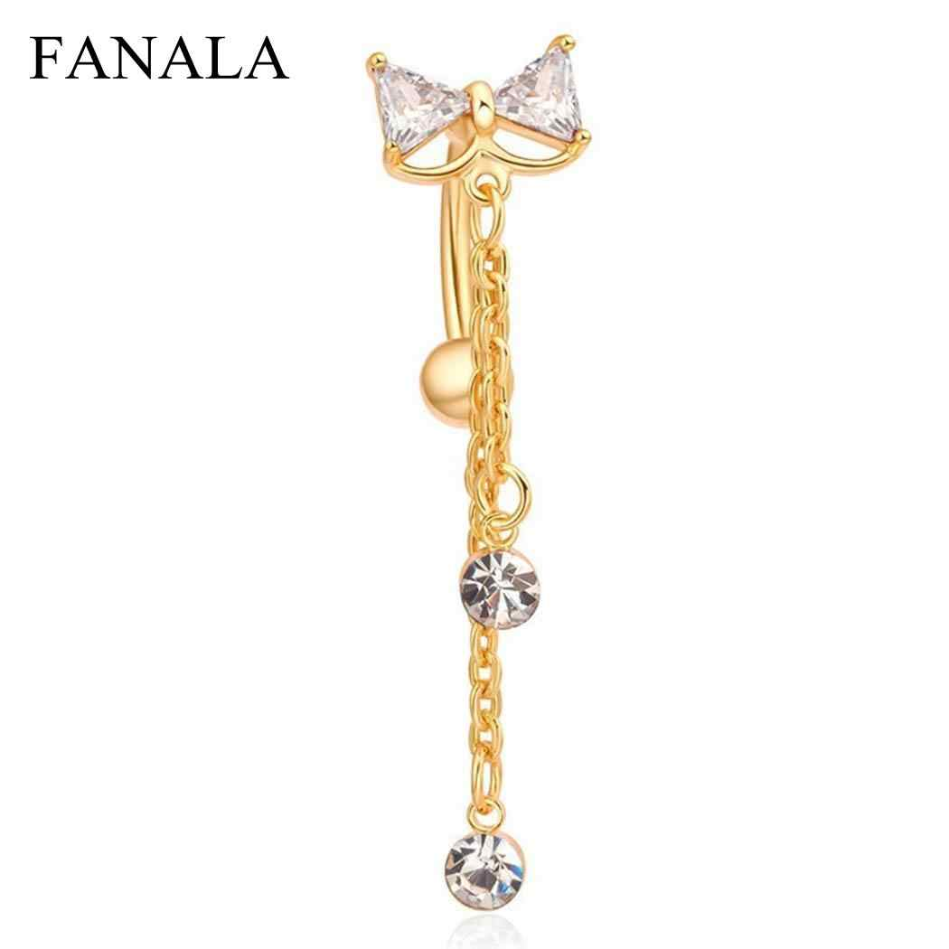 FANALA Belly Piercing Women 1Pc Fake Septum Piercing Clip On Body Clicker  Navel Ring Fashion Jewelry