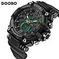 Мода спортивные часы прохладный мужская кварцевые цифровые часы мужские спортивные часы DOOBO люксовый бренд военные водонепроницаемые часы