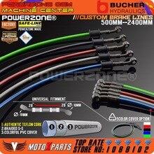 Мотоцикл Байк Плетеный Стальной гидравлический усиленный тормозной линии сцепления Масляный шланг 500 до 2400 мм Универсальный подходит для гонок MX